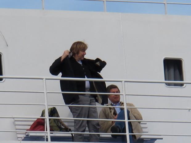 Merkel sul traghetto