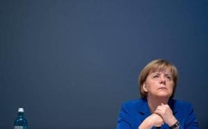 German Chancellor Angela Merkel at CDU state convention