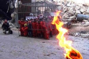 Bambini in gabbia in Siria