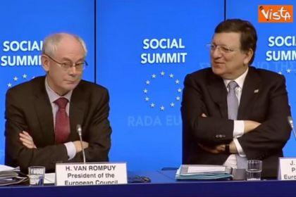 Barroso e Van Rompuy ridono su riforme Renzi
